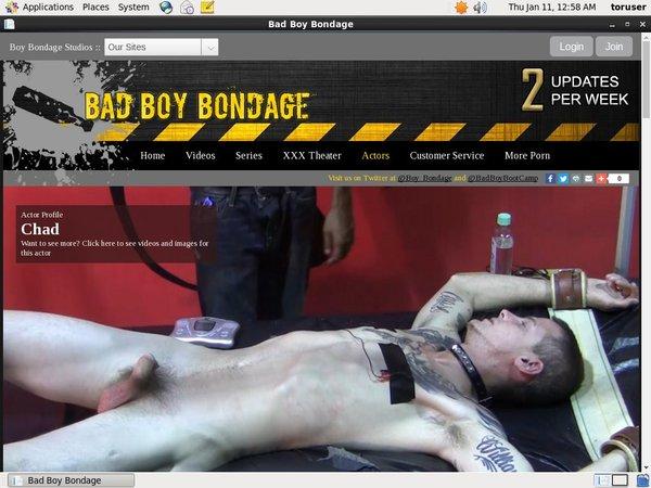 Bad Boy Bondage Sign Up